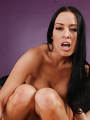 Gorgeous Vanilla DeVille has rough sex and sucks a fat cock in her house.