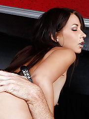 Cute little brunette gets her tight pussy fucked
