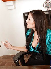 Kortney Kane and her co-worker suck and fuck each other in the office