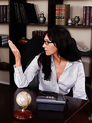 Diana Prince is horny at work so she seduces worker and gets fucked by his thick cock.