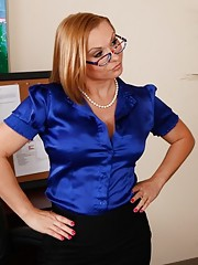 Sexy worker Katja Kassin seduces a worker and gets fucked on her desk.