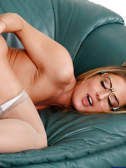 Sexy blonde boss Sheena Shaw fucks her out of line working into line.