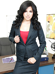 Danica Dillon has hot sex with her boss so she can keep working.
