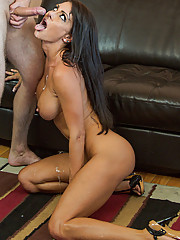 Sexy babe Jessica Jaymes has hot sex with her neighbor and loves to get fucked by his thick cock.