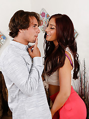 Mischa Brooks has hot sex with her neighbor and has loud orgasms.