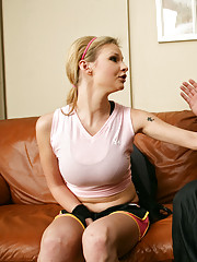 Hot soccer girl Tarra White takes her coach