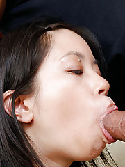Small asian girl takes a big black cock.