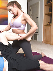 Capri Cavanni  is turned on by her client and decides to fuck for their workout session.