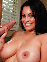 Sophia Lomeli sucks a big fat cock and gets fucked good