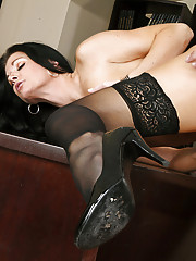 Professor India Summer gets fucked in her sexy stockings