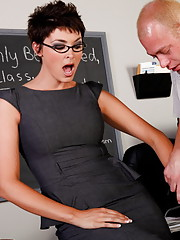 Charlie James gets filled by her student