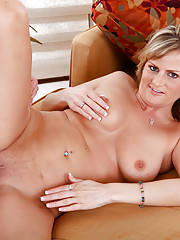 Sexy MILF Becca Blossoms rides a hard, young cock