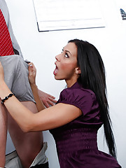 Rachel Star fucks the company basketball stud to ensure he brings his A game.