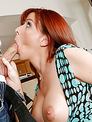 Hot redhead takes advantage of her friend