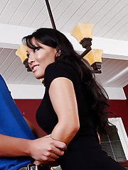 Hot Asian Asa Akira gets pounded hard on the dining room table