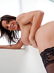 Sexy hot mom sucks dick and gets fucked hard.