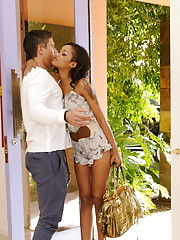Gorgeous Skin Diamond sees her friends brother and just wants to ride his cock over and over again.