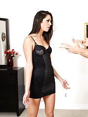 Gorgeous brunette babe is mad and decides to fuck her boyfriend