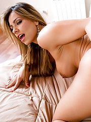 Esperanza Gomez rides a cock with her finger in her ass