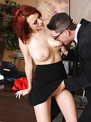 Jessica Robbin has to fuck her boss so she can keep her job and not get in trouble.