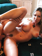 Envy is a hot MILF who is horny and decides to fuck one of her sons friends.