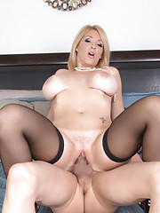 Hot blonde MILF Charlee Chase has hot sex with younger cock.
