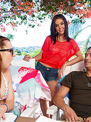 Gorgeous babes Lexi Belle & Dillion Harper have hot threesome with lucky guy.