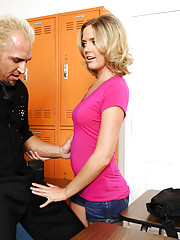 Gorgeous babe Mega Sweetz has hot sex with her professor as long as she can keep a secret.