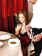 Gorgeous Yurizan Beltran is a hot latin who decides to fuck the man who brings out the bad food she does not want to eat.
