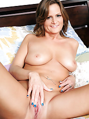 Hot MILF Becca Blossoms is surprised to see her sons friend after she showers but she decides to just fuck him.