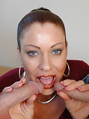 Vanessa Videl gets fucked by two guys both who are friends with her son.