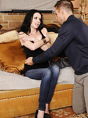 Gorgeous mom Veronica Avluv gets talked into fucking her sons friend and riding his big cock.