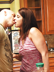 Hot MILF Kasandra Blue decides to fuck one of her sons friends while her son is away.