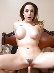 Chanel Preston is horny and decides to ride married guys cock.