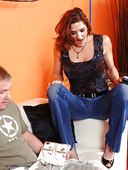 Christina Noir is horny and fucks guy who helps her out.