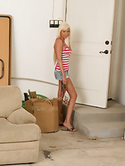 Gorgeous babe Rikki Six has hot sex with wannabe mechanic in his garage.