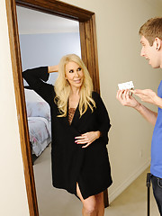 Erica Lauren has hot sex after a room mix up and gets to fuck younger guy.