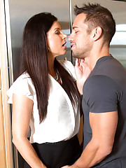 India Summer has hot sex with younger guy and loves getting fucked by his big cock.