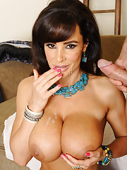 Busty hot milf Lisa Ann has hot sex with younger friend of her son.