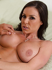 Kendra Lust is renting a room in her cougar den and decides to seduce the first person and fuck him while he looks at the room.