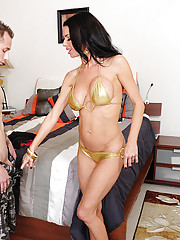 Veronica Avluv decides to fuck one of her son