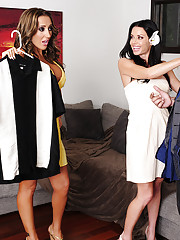 Gorgeous babes Richelle Ryan & Veronica Avluv have hot sex and threesome with one lucky guy.
