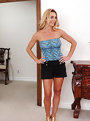 Brenda James is a hot blonde cougar who fucks who and when she wants.