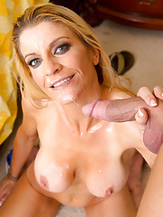 Robbye Bentley wakes up from a nap very horny so she fucks her son