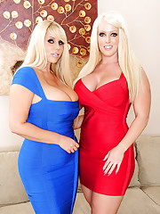 Alura Jenson & Karen Fisher have hot threesome with one lucky guy.