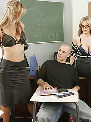 Mrs. Ann & Mrs. Banner have hot threesome with one of their students.