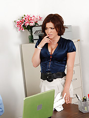 Krissy Lynn is caught stealing money from work and she will do anything to keep her job, including sucking his cock and getting fucked on her desk.