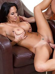 Ava Addams is horny and wants to fuck this married guy and ride his big cock.
