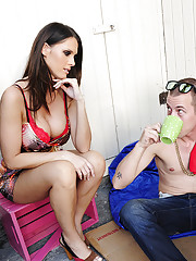 Jennifer Dark is a gorgeous MILF who helps her son
