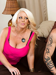 Hot cougar Alura Jenson is renting out one of her many houses. The potential renter is a college dude whose looking for a house for him and his bros to finish up the school year in. He swears to Alura that they are not big party animals, but she doesn&#03